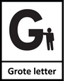 Label grote letter